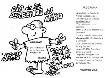 Programa Semana Visibilización Gallinero Cañada 2009